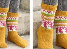 Bunny Dance knitted socks | the knitting space