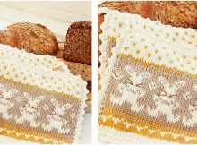 Bunny Parade knitted potholder