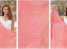 Caledonia knitted lace blanket | the knitting space