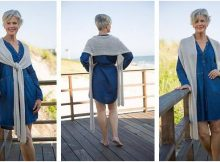 Calista rectangular knitted wrap | the knitting space