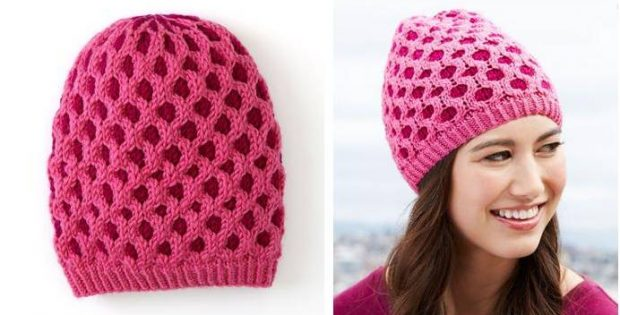 Capriciously Chic Knitted Hat Free Knitting Pattern