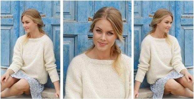 Carly knitted raglan pullover | the knitting space