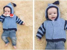 Carson knitted baby hoodie   the knitting space