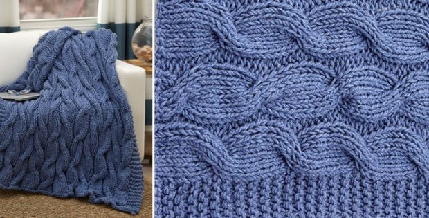 casual cables knitted throw   the knitting space