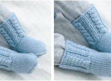 Celestina knitted baby socks | the knitting space