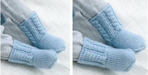 Celestina Knitted Baby Socks Free Knitting Pattern