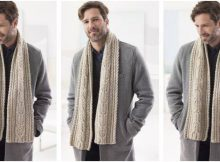 Chestnut Street knitted scarf | the knitting space
