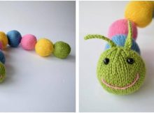 Chloe caterpillar knitted toy | the knitting space