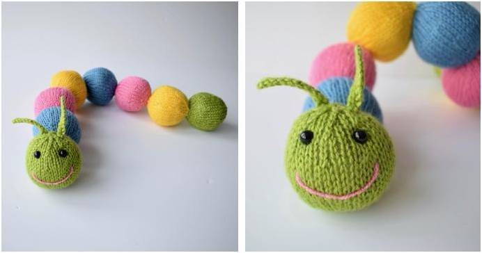 Chloe Caterpillar Knitted Toy Free Knitting Pattern