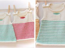 Clementine knitted baby dress | the knitting space