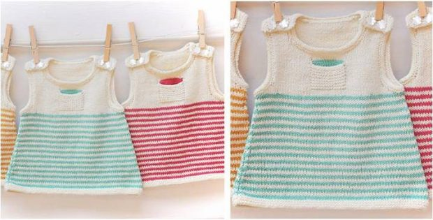 Clementine Knitted Baby Dress Free Knitting Pattern