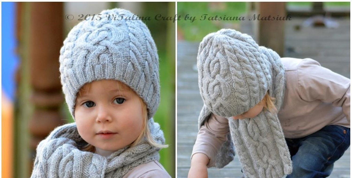 Free Knitting Pattern For Cushion Cover : Knit Cloudlet Hat And Scarf [FREE Knitting Pattern]