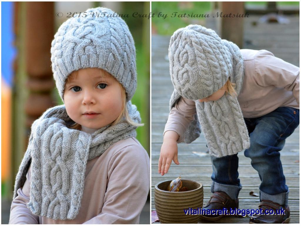 Knit Cloudlet Hat And Scarf [FREE Knitting Pattern]