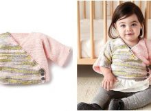 Colorblock Kimono knitted baby cardi   the knitting space