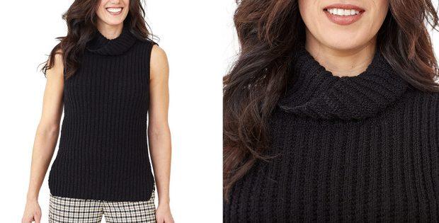 Cosmic Cowl Knitted Tunic [FREE Knitting Pattern]