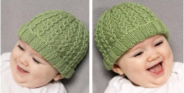 Danny Boy Knitted Baby Hat Free Knitting Pattern