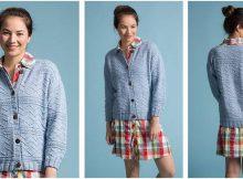 Deborah's knitted biking cardigan | the knitting space