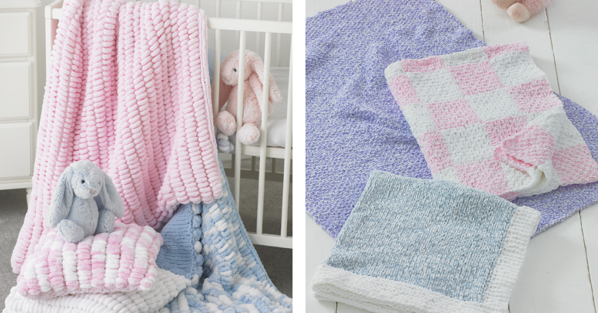 Delightful King Cole Knit Baby Blankets [FREE Knitting ...