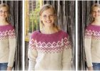 Diamond Delight knitted sweater | the knitting space