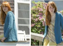 Diana knitted cabled cardigan | the knitting space