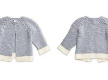 Dipped Detail knitted baby cardi   the knitting space