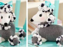 Dominique knitted pomp poodle | the knitting space