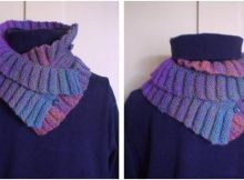 Double Ruffle knitted neck warmer | the knitting space