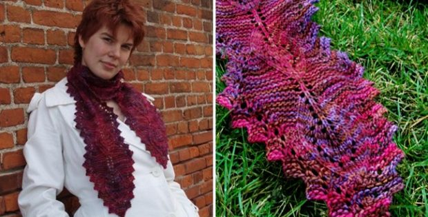 Lamina knitted lace scarf | the knitting space
