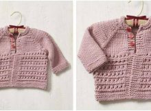 Ella knitted baby cardigan | the knitting space