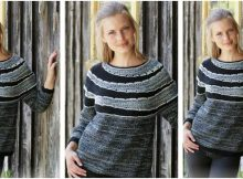 Fading Circles knitted stripy sweater | the knitting space
