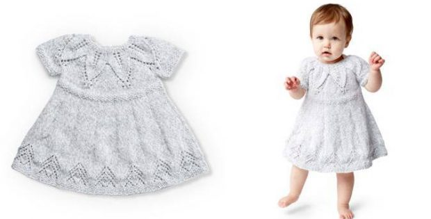 Fairy Leaves Knitted Dress Free Knitting Pattern