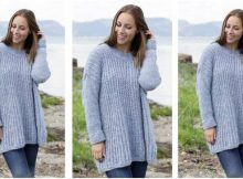 Feeling Serene knitted sweater | the knitting space