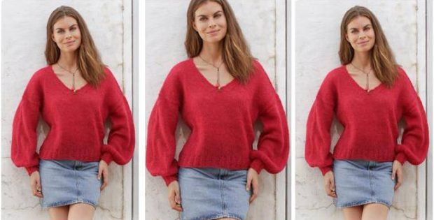 Flamenco knitted sweater | the knitting space