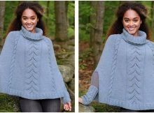 Fleetwood knitted poncho | the knitting space