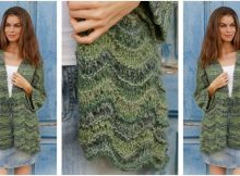 Forest Call knitted kimono jacket   the knitting space