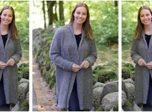 Forest Mist knitted shawl collar jacket | the knitting space
