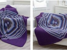 Four Square knit diagonal throw | the knitting space