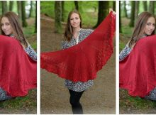 Fuego De Dragon knitted shawl | the knitting space