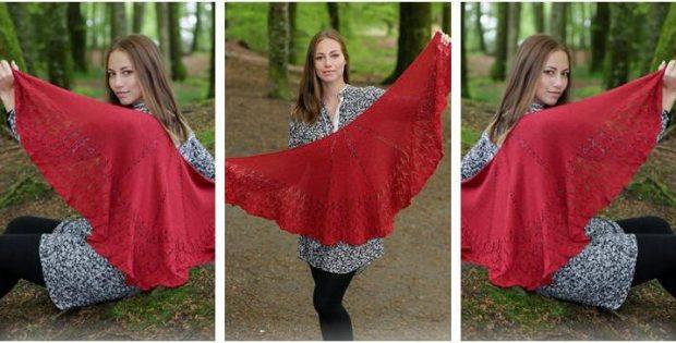 Fuego De Dragon Knitted Shawl Free Knitting Pattern