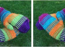 Funktastic knitted rainbow mittens | the knitting space