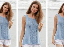 Gentle Waves knitted lacey top | the knitting space