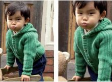 Hazel knitted kiddie cardigan | the knitting space
