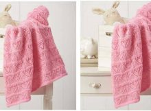 Heartfelt knitted lace baby blanket | the knitting space