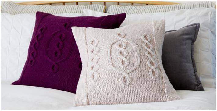 Hygge Chic Knitted Cable Pillow Free Knitting Pattern