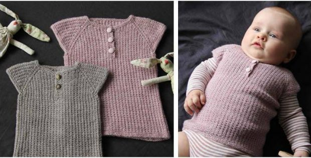 98f09f801 Awesome Iben Knitted Baby Vest  FREE Knitting Pattern