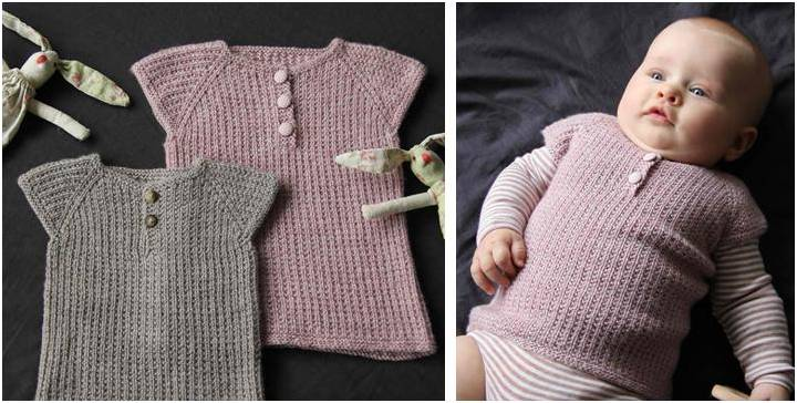 Awesome Iben Knitted Baby Vest Free Knitting Pattern