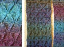 Jabberwock knitted textured scarf | the knitting space
