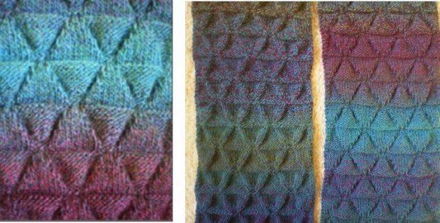 Jabberwock Knitted Textured Scarf Free Knitting Pattern