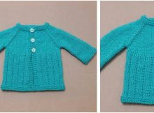 Jack 'N Jill knitted baby cardigan | the knitting space