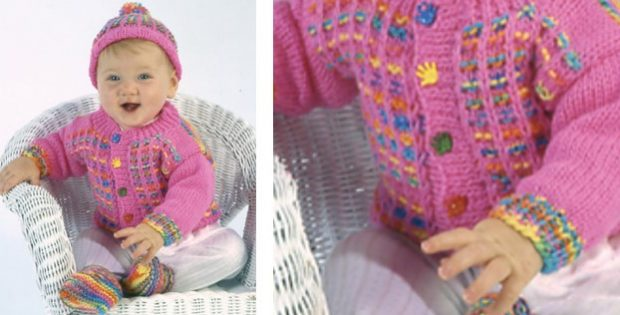 patty cakes knitted baby set   The Knitting Space  